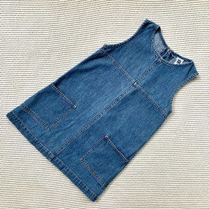 Early 2000's Gap Factory Denim Dress | XS